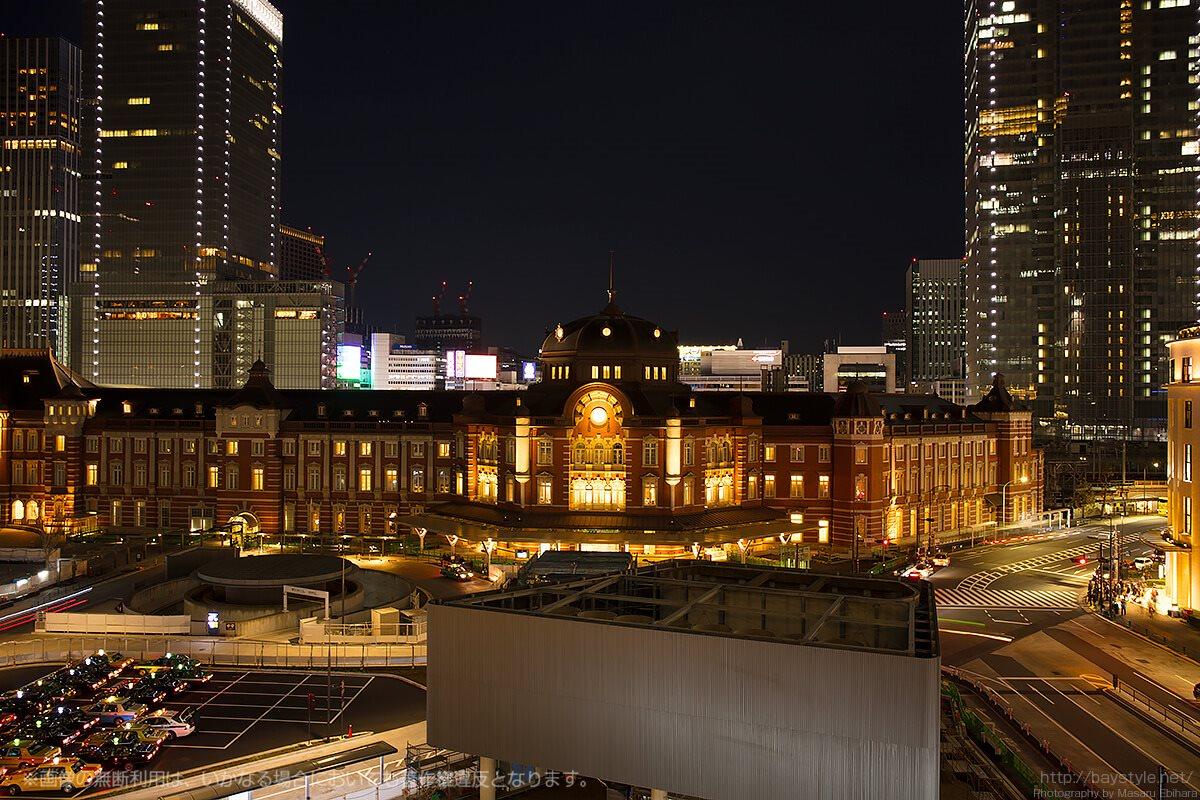新丸ビル5階テラスから一望できる赤レンガの東京駅
