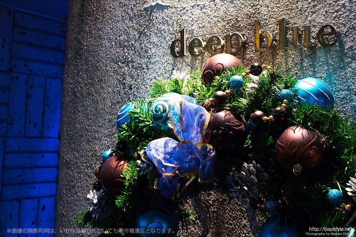 Deep Blue Yokohama(ディープブルー横浜)入口のクリスマス飾り