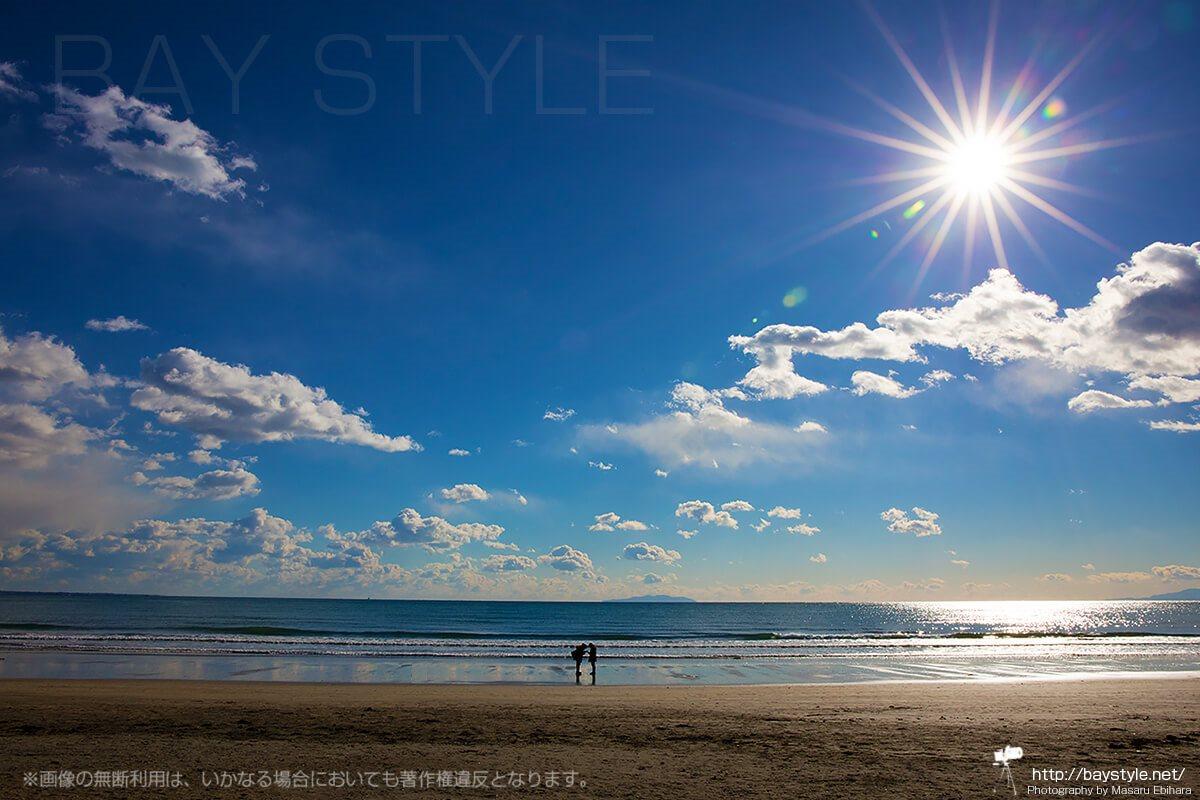 由比ヶ浜海水浴場の眺め