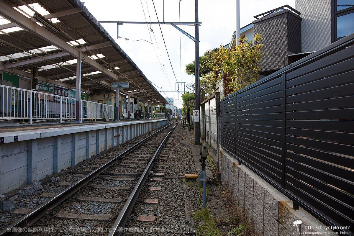 和田塚駅の踏切から撮影した線路
