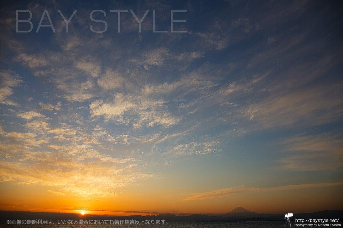 岩屋展望デッキから眺める夕日