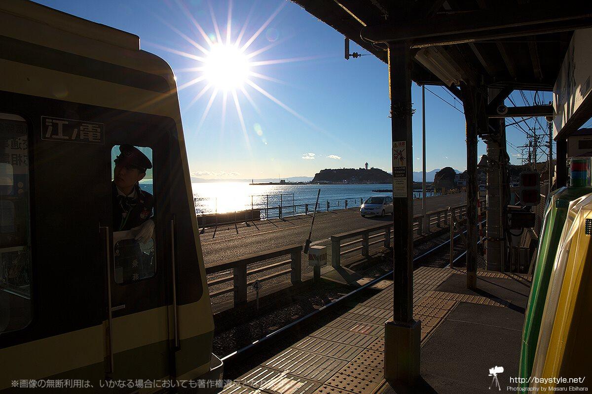 江ノ電の女性車掌