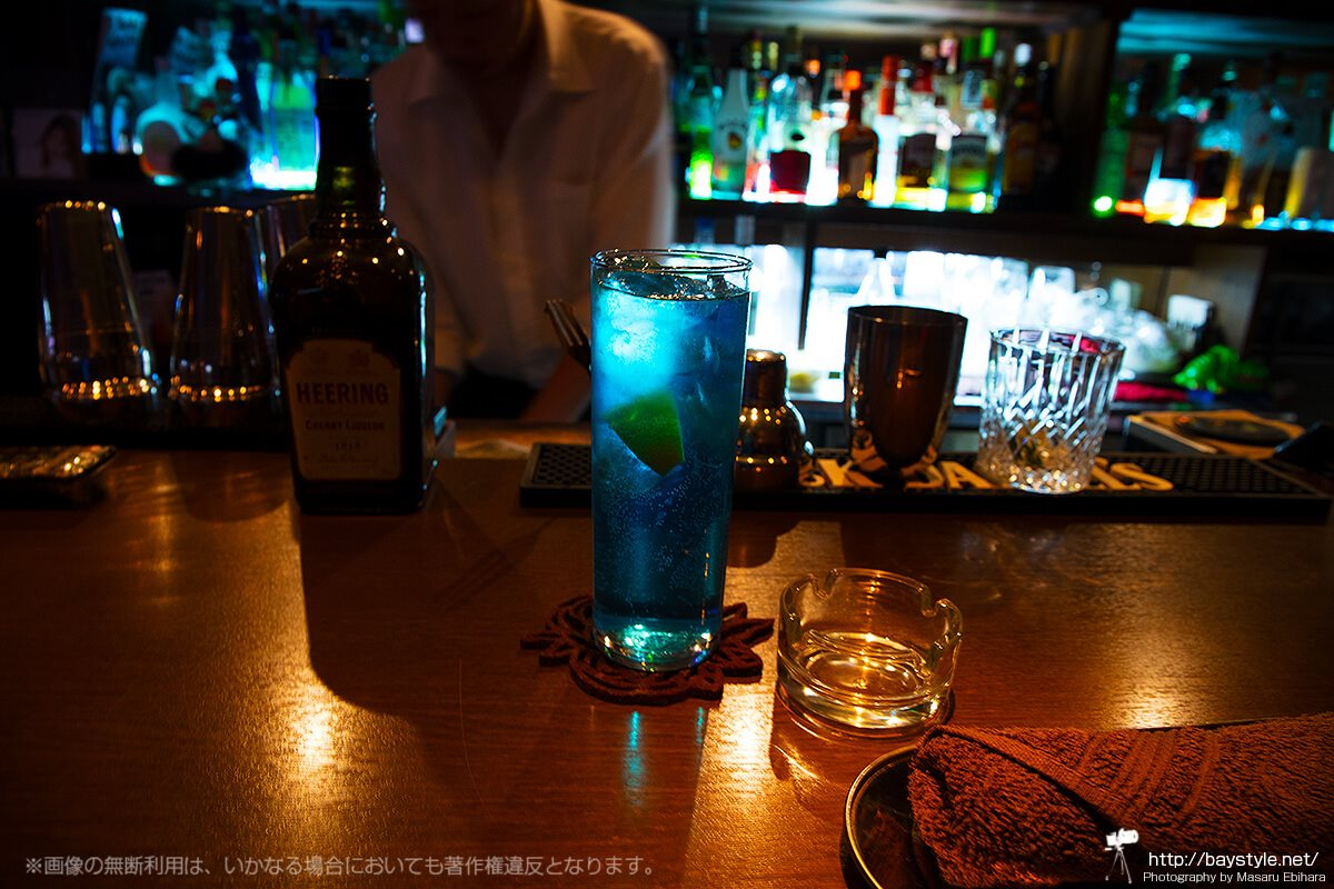 ブルーライト横浜をイメージして作っていただいたメニューにないオリジナルカクテル
