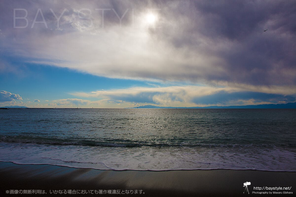葉山一色海水浴場からの眺め