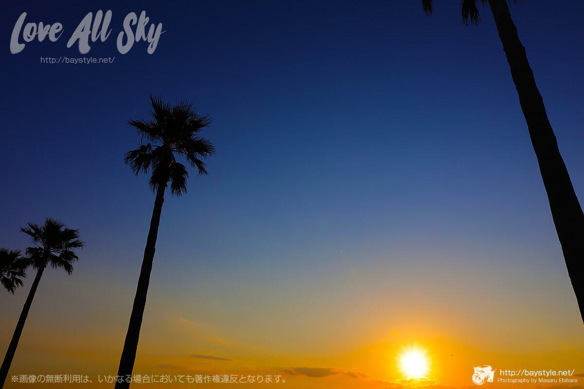 江ノ島入口付近の夕日