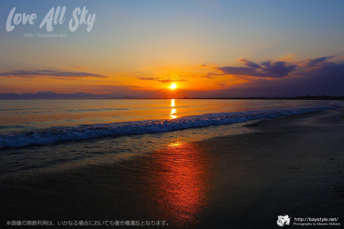 江ノ島西浜からの夕日