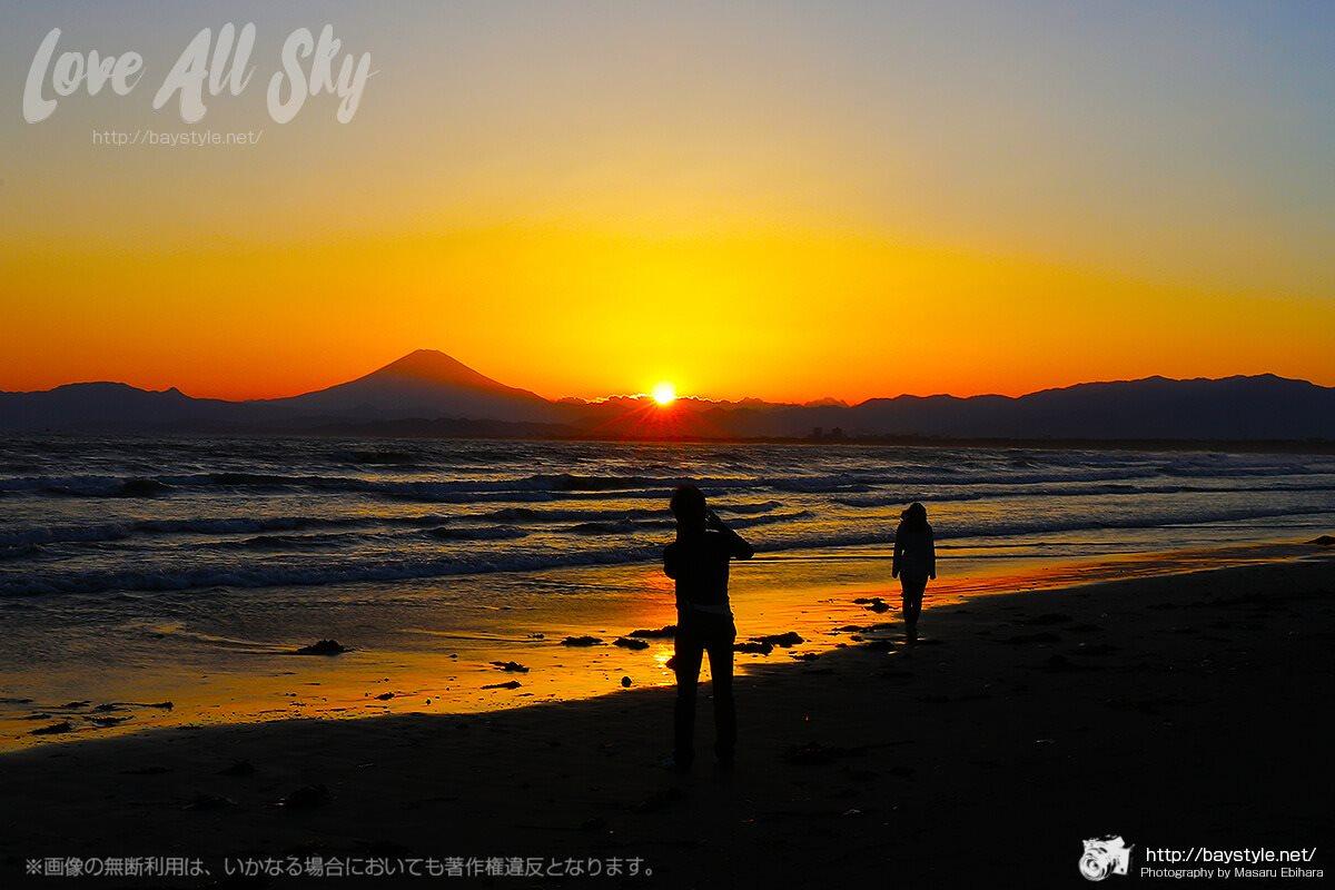 江ノ島西海岸の美しい眺め