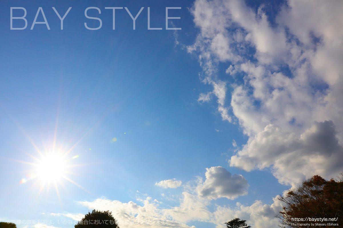 鶴岡八幡宮上空の青空