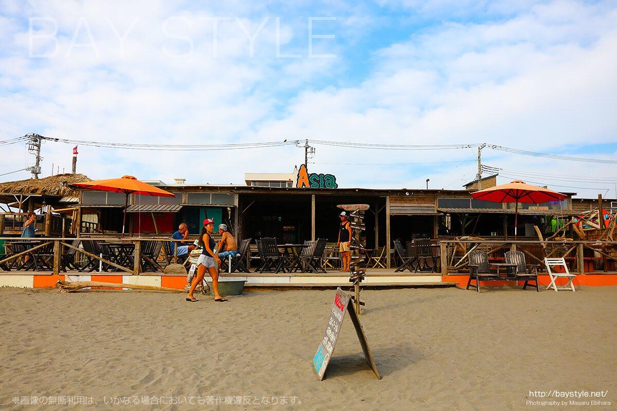 海の家Asiaはメニューも豊富でおしゃれなビーチバー