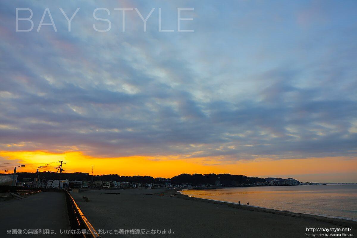 由比ヶ浜の日の出