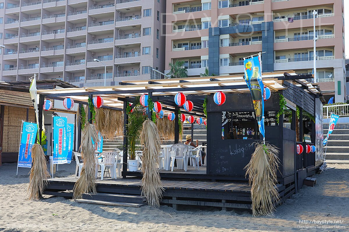 ビーチカフェ、片瀬東浜海水浴場の海の家