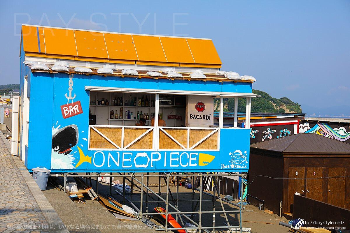 ワンピース、片瀬東浜海水浴場のカフェ