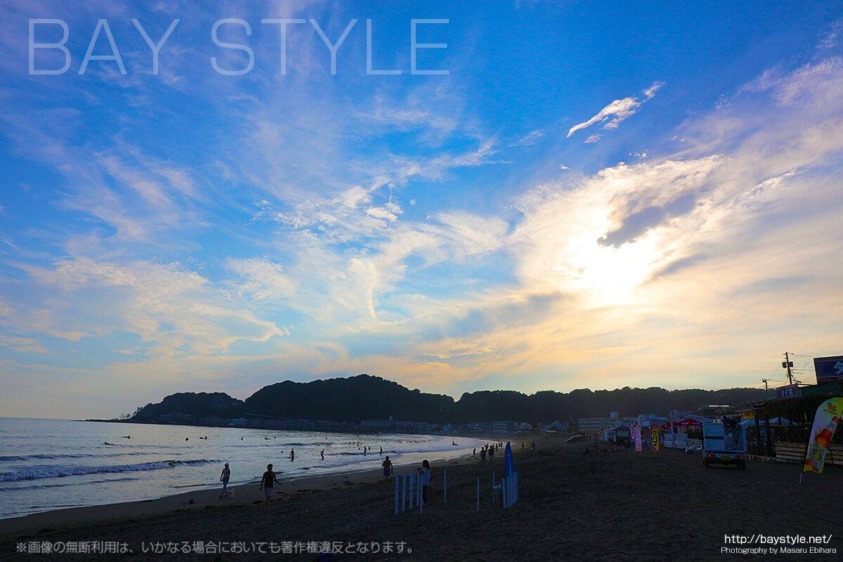 鎌倉由比ヶ浜、タバコが吸えるビーチの喫煙所