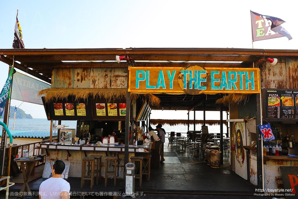 PLAY THE EARTH、片瀬西浜海水浴場のおしゃれなジャマイカンな海の家