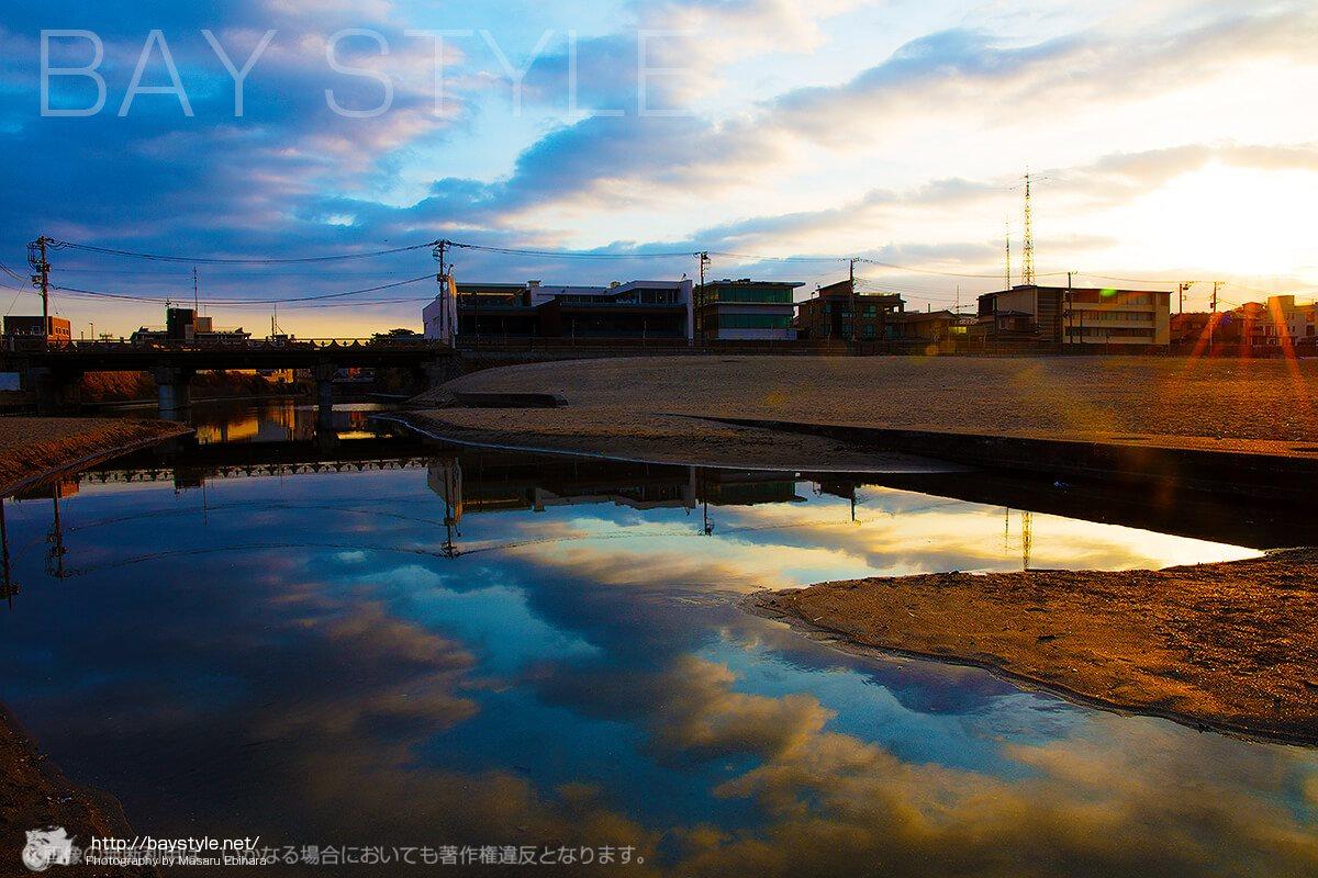 早朝の鎌倉滑川