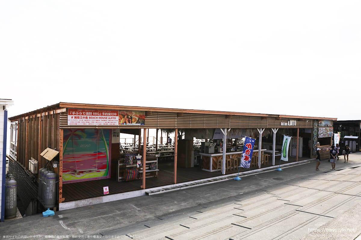 Beach House AJITO(ビーチハウスアジト)、片瀬西浜海水浴場の海の家