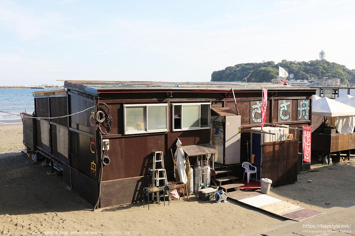 ささ舟、片瀬東浜海水浴場の海の家