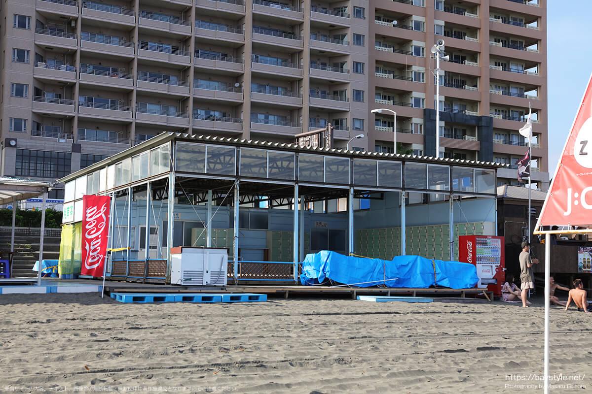 湘南亭食堂、片瀬東浜海水浴場の海の家