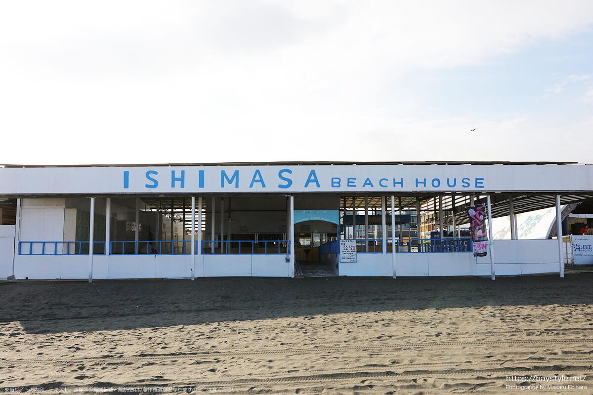 ISHIMASA(石政)、片瀬東浜海水浴場の海の家