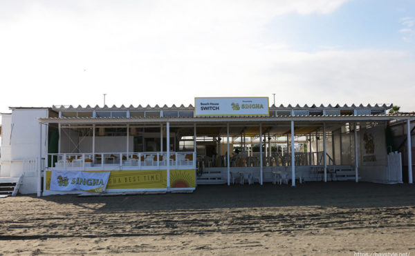 ビーチハウススイッチ、片瀬東浜海水浴場の海の家