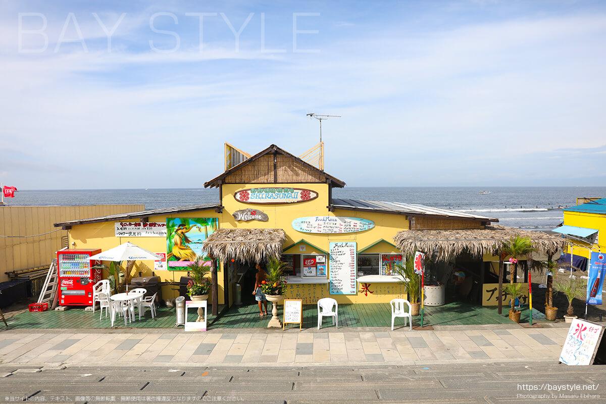 白砂2はポニーがいる片瀬西浜海水浴場(鵠沼海岸)の海の家