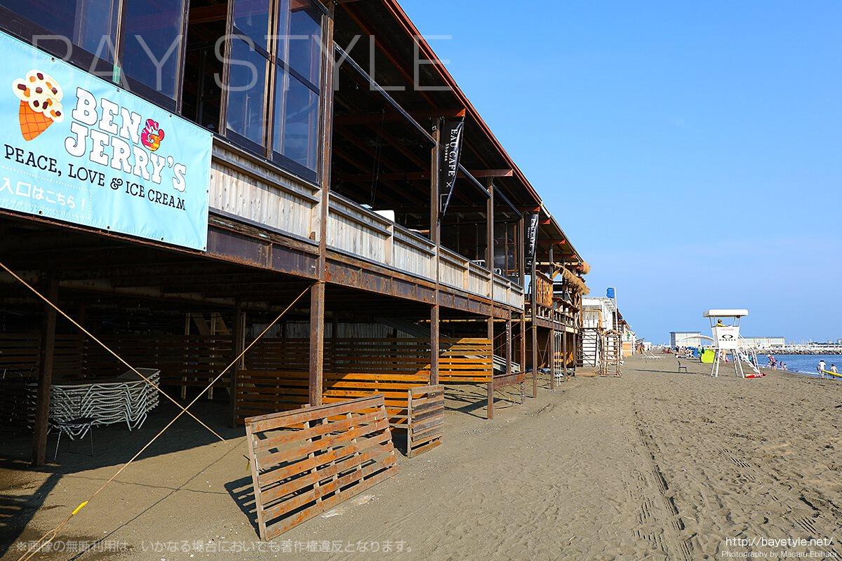 「オウカフェ、ベン&ジェリーズ」海側