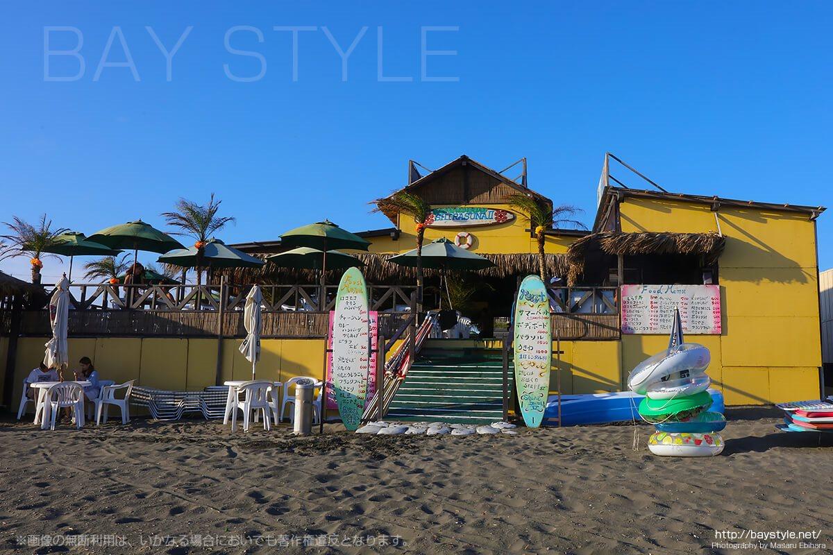 白砂2、ポニーがいる、片瀬西浜海水浴場(鵠沼海岸)海の家