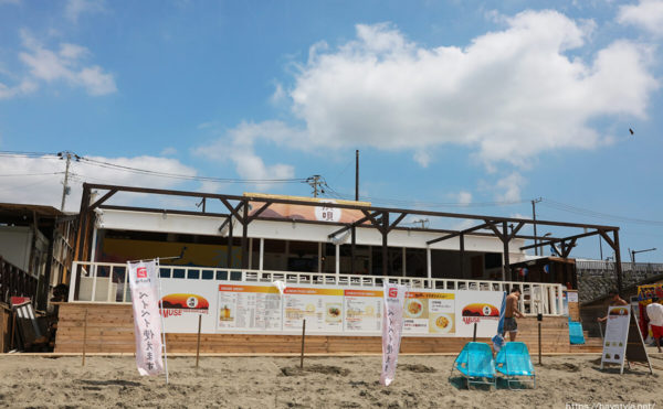 AMUSE SEASIDE CAFE 浜唄(アミューズシーサイドカフェ浜唄)、鎌倉由比ヶ浜海の家
