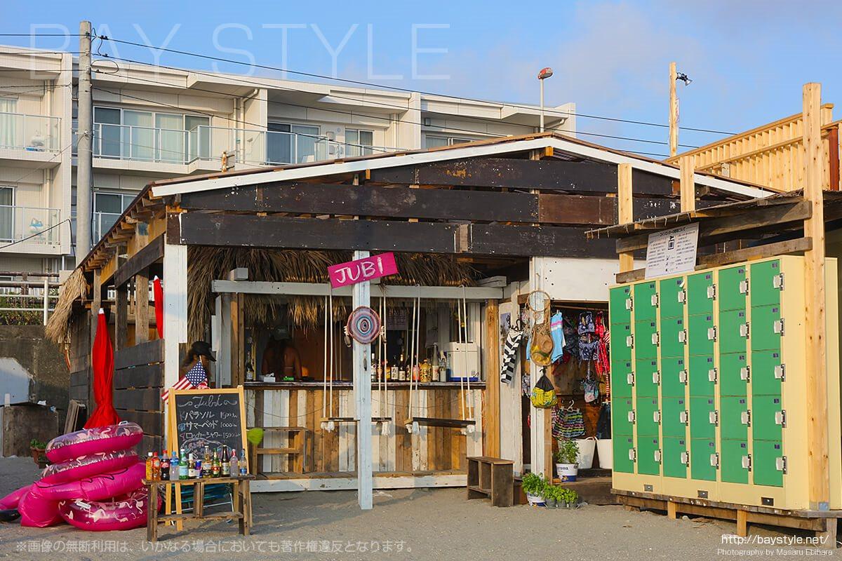 JUBI、逗子海水浴場の海の家