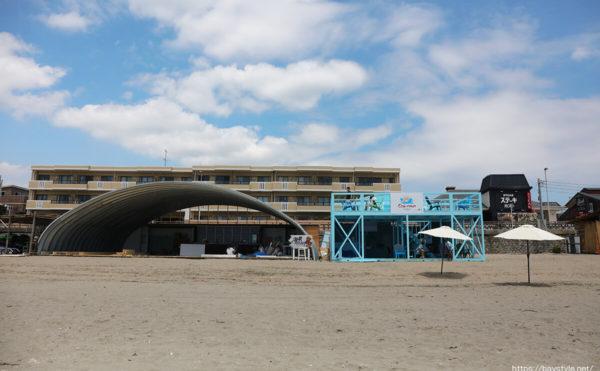 Chi-man(海男)、逗子海水浴場の海の家