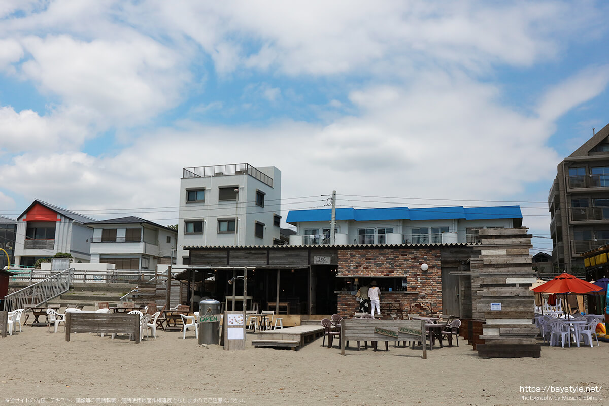 3×6(サブロク)、逗子海水浴場の海の家
