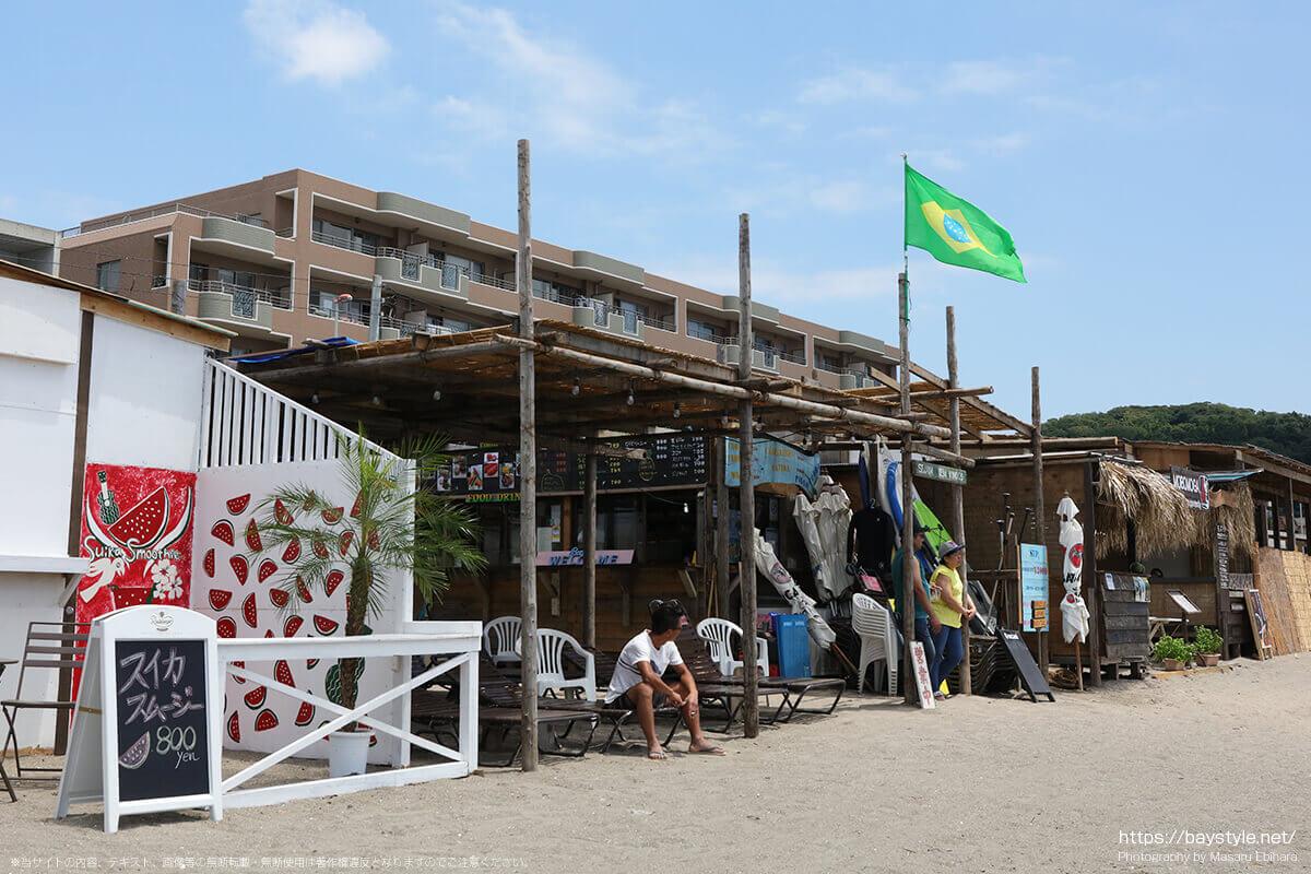 ビレキーニョ、逗子海水浴場の海の家