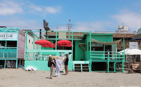 アジアンリゾート、逗子海水浴場の海の家