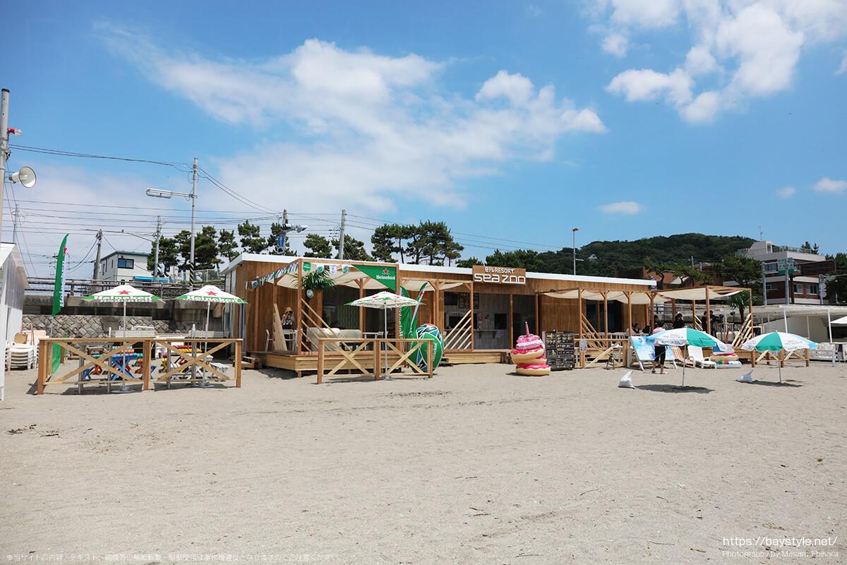 日テレRESORT sea zoo(日テレリゾートシーズー)、逗子海水浴場の海の家
