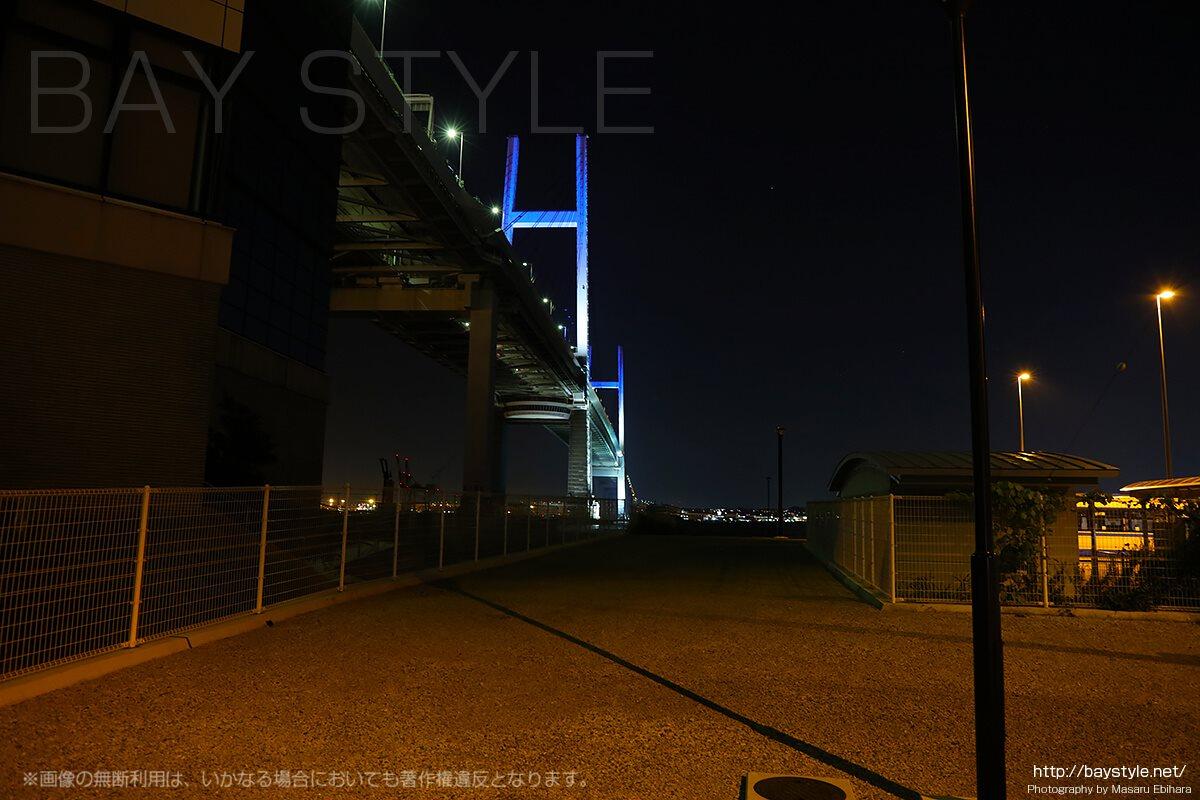 横浜ベイブリッジの夜景ライトアップ