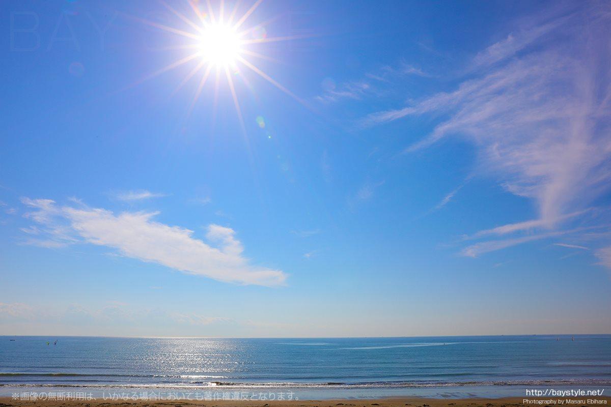 鎌倉由比ガ浜の穏やかな海