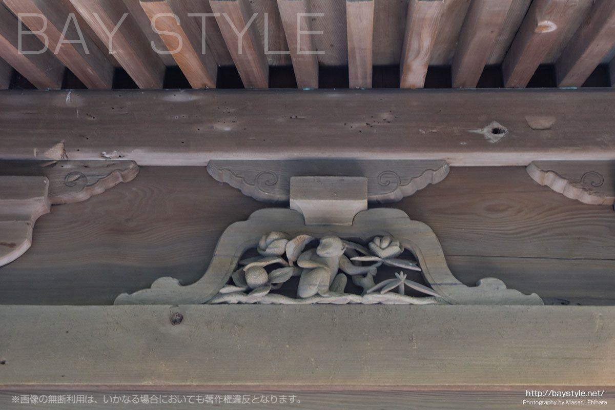 英勝寺の仏殿に彫られている十二支(申「さる」)