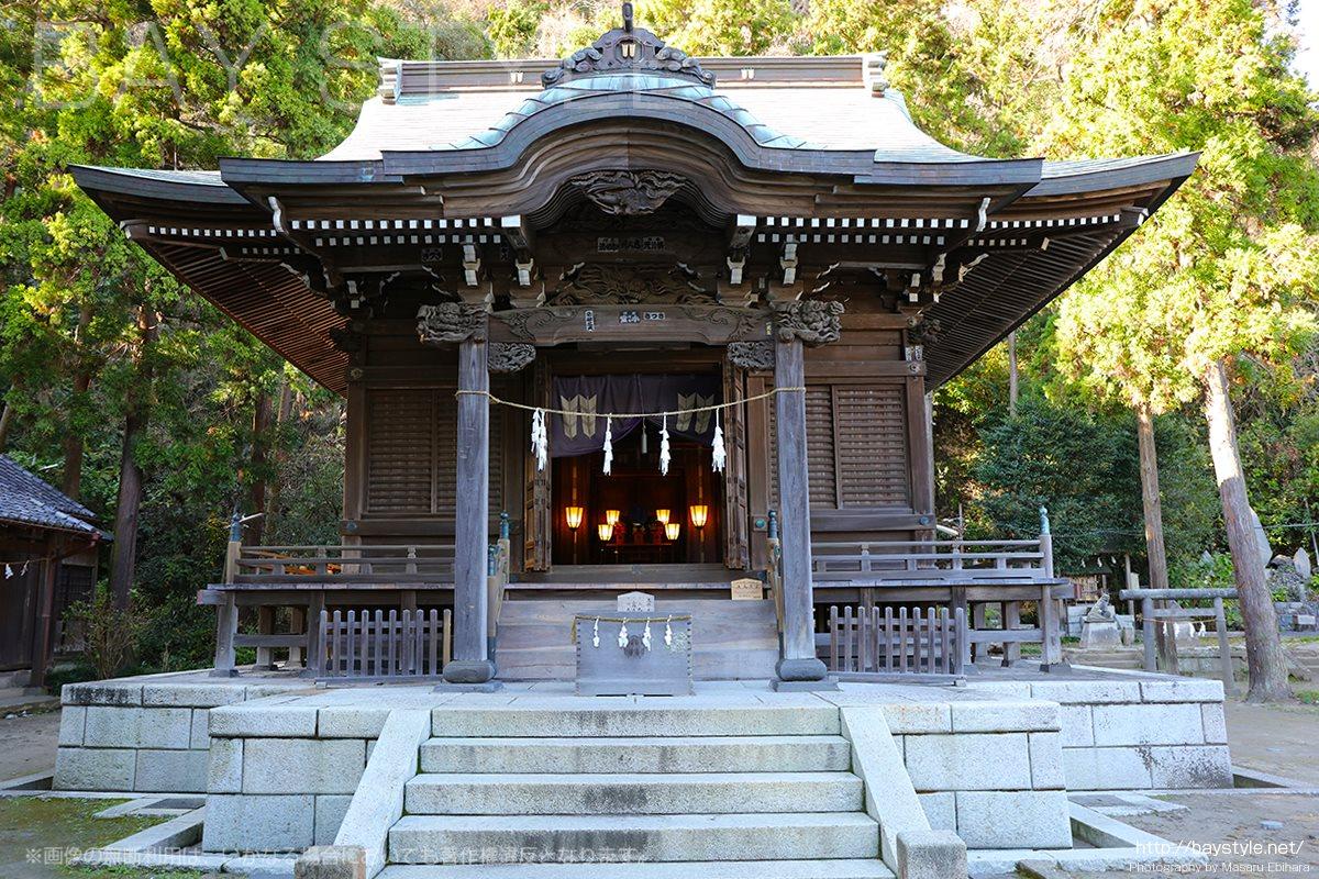 御霊神社は鎌倉江ノ島七福神面掛福禄寿がある江ノ電沿いの神社