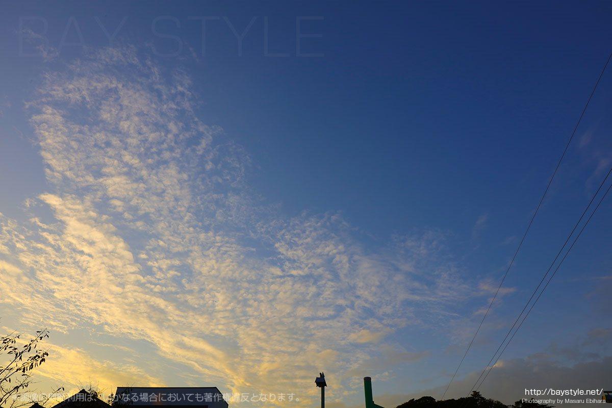 杉本寺付近の夕暮れ空
