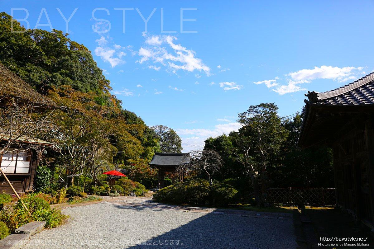 海蔵寺の美しい境内