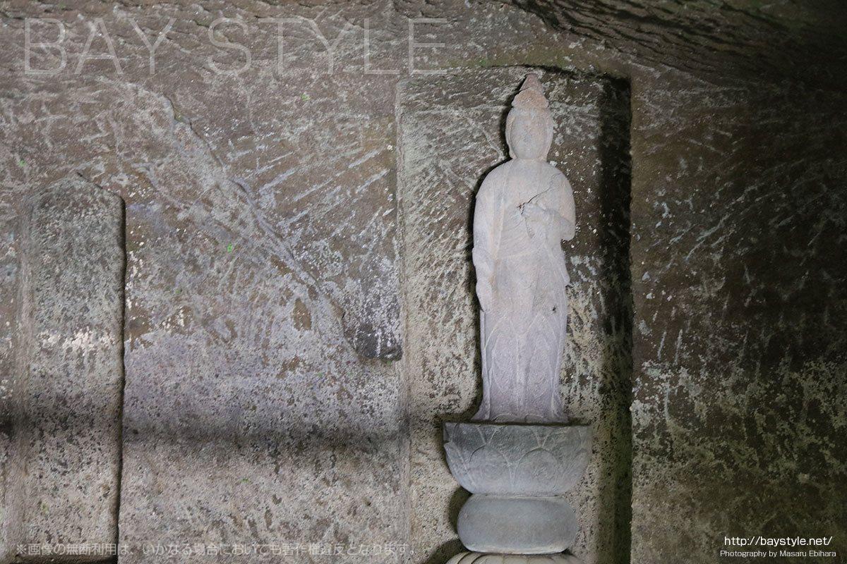 海蔵寺の十六ノ井戸に安置された観音菩薩像
