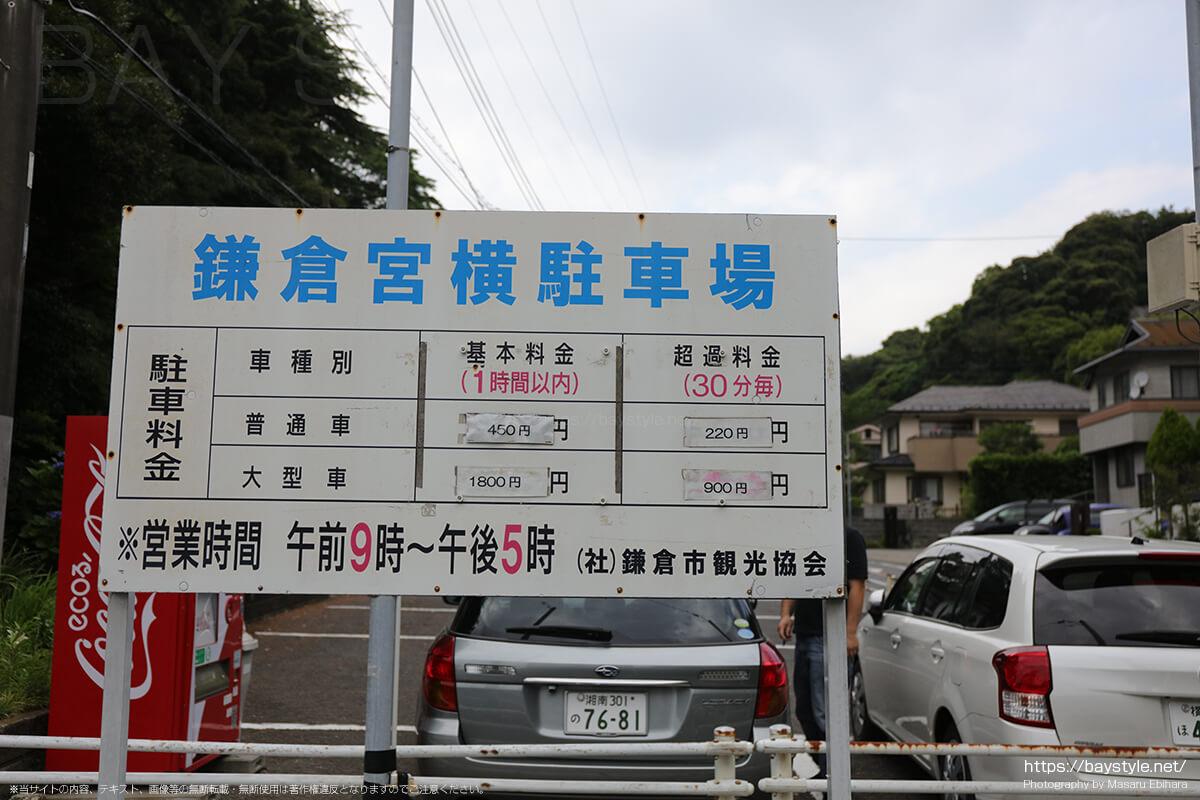 鎌倉宮の駐車場