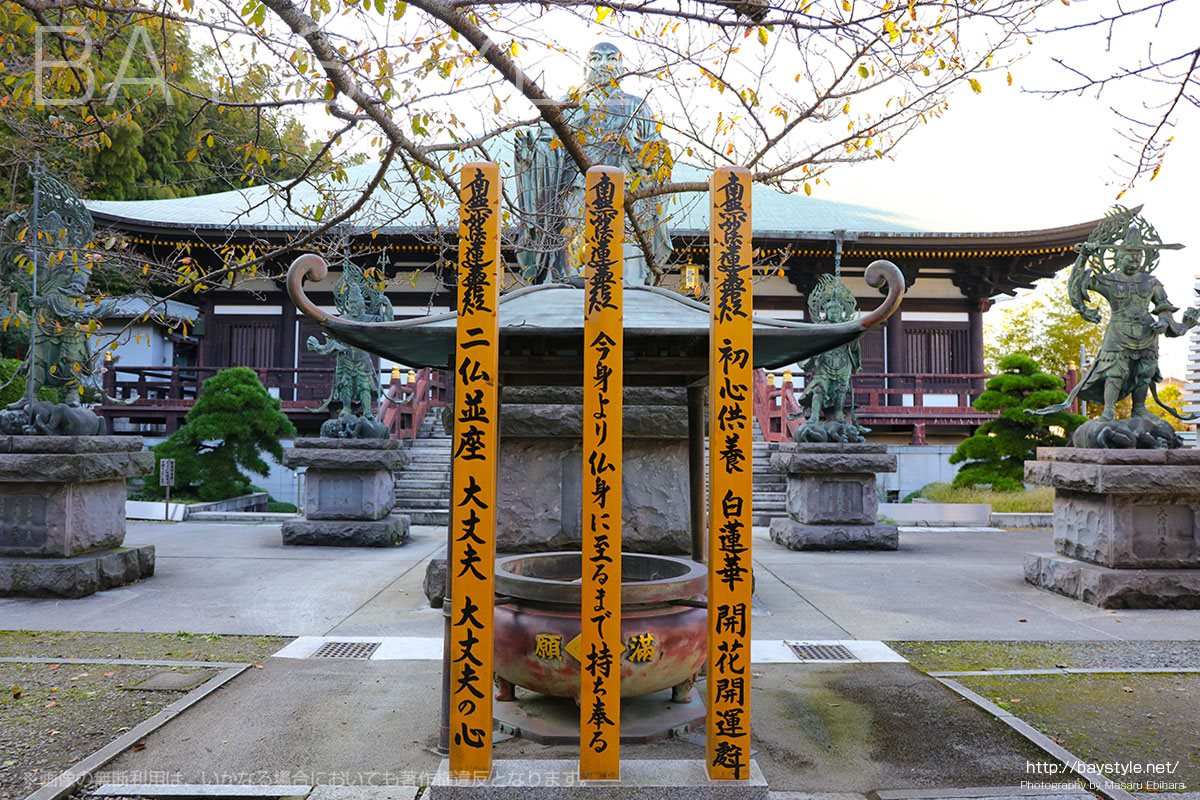鎌倉長勝寺は、日蓮聖人と四天王像が特徴的なお寺