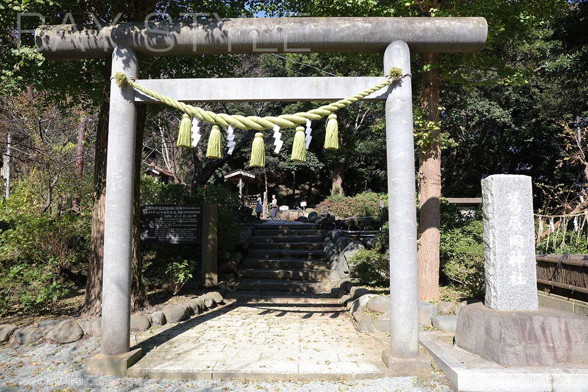 葛原岡神社の石鳥居