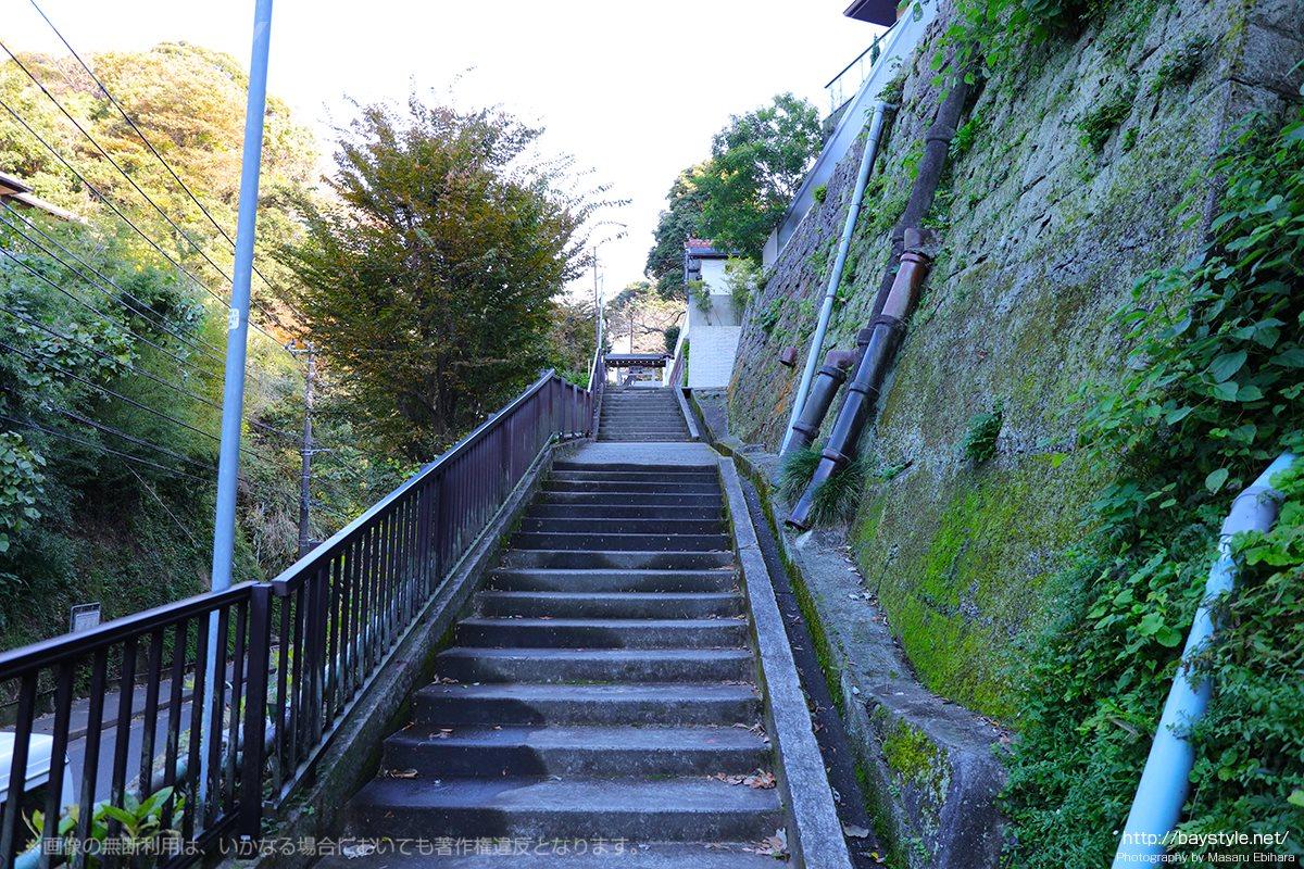 成就院の境内への階段