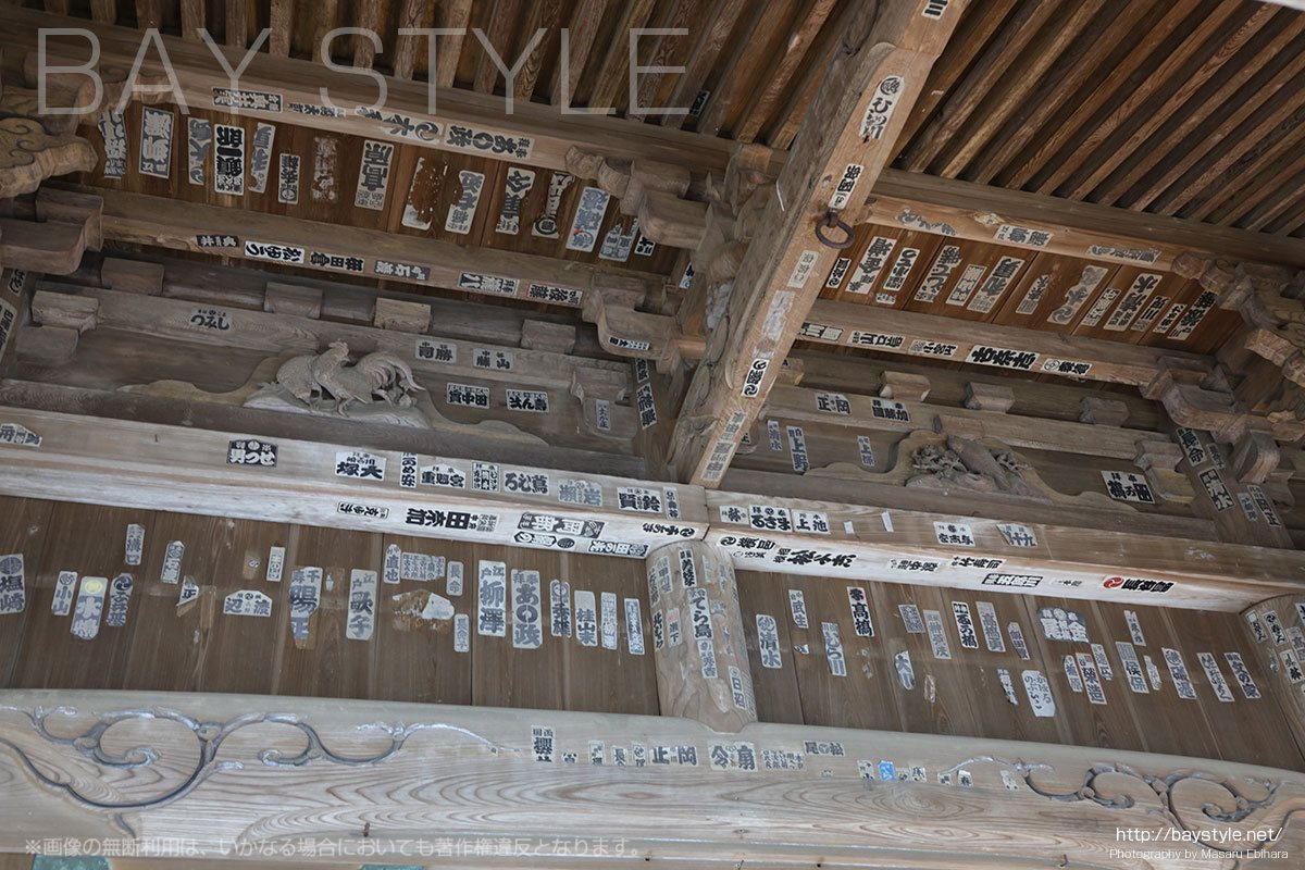 祖師堂の天井にある御札
