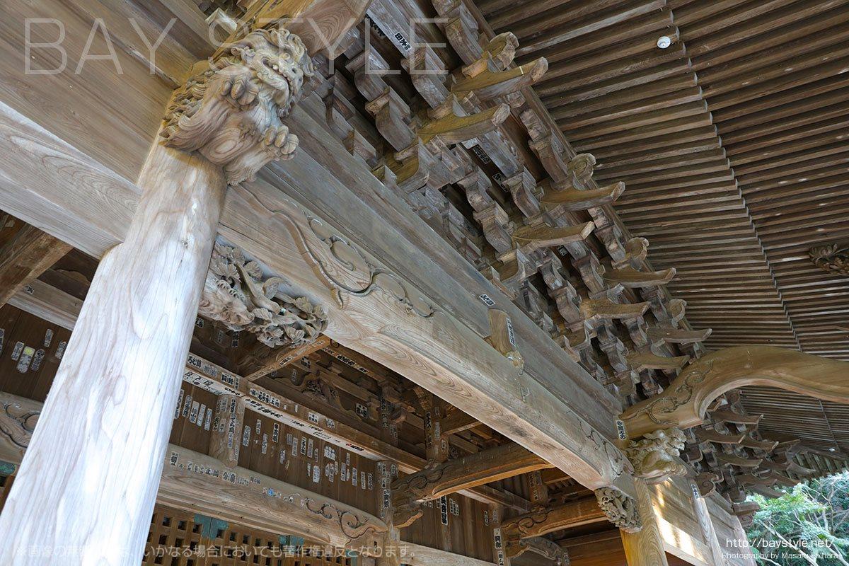妙本寺の巨大な祖師堂