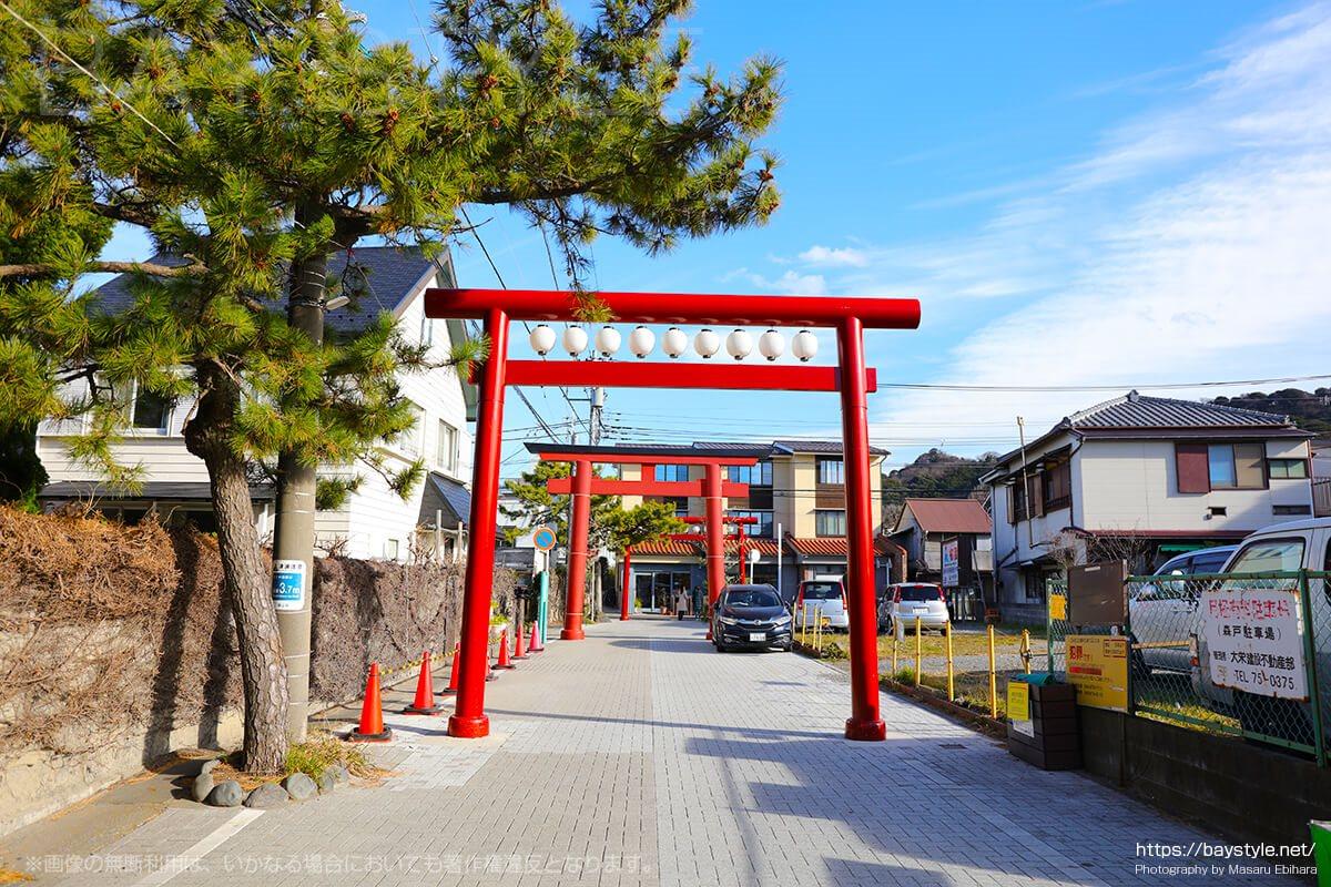 森戸神社の入口