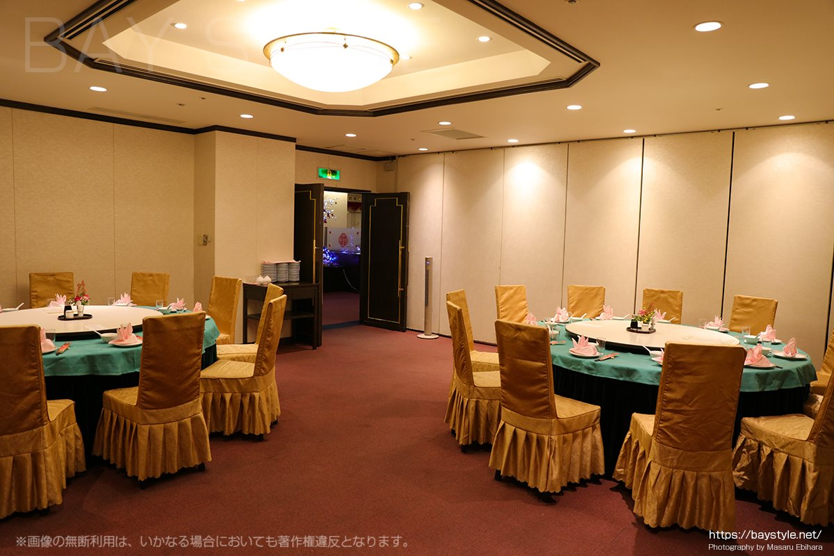 盤古殿新横浜プリンスホテル店の宴会セッティング