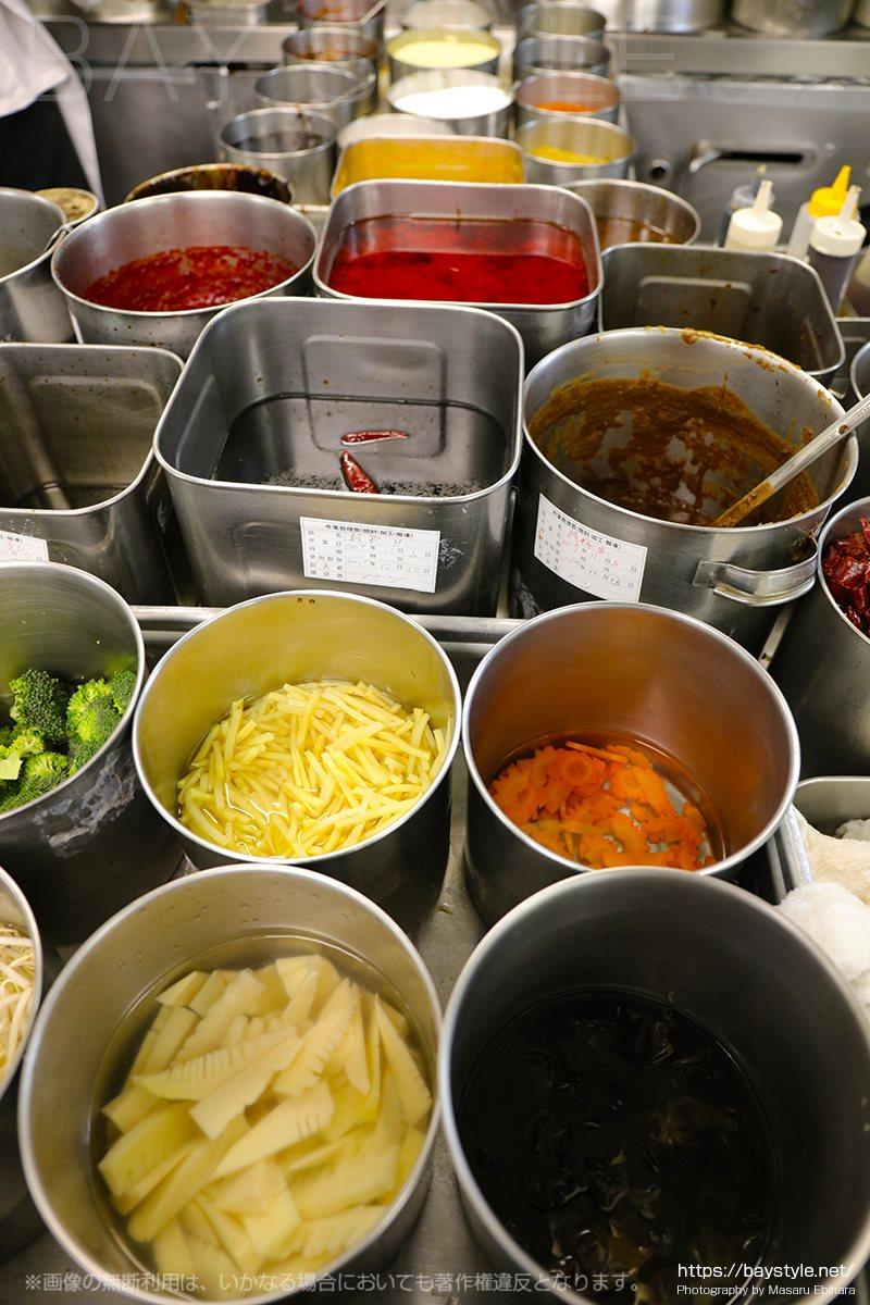 中華料理の食材、調味料、香辛料